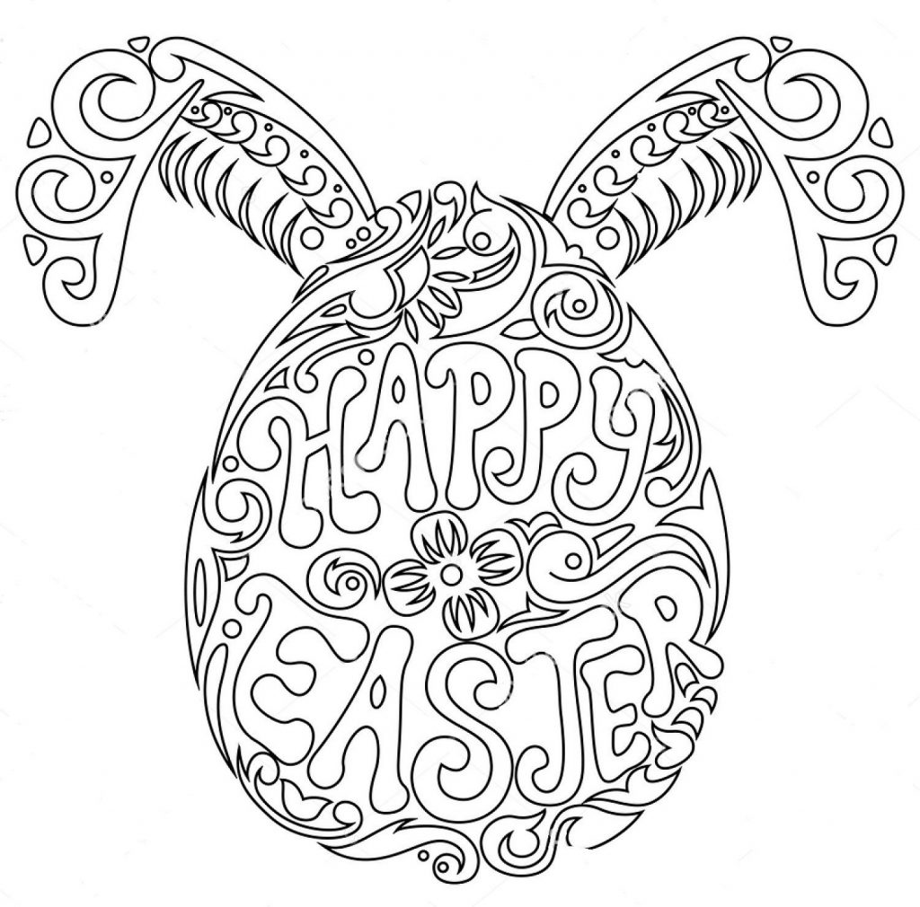 Easter Egg Coloring Pages Zentangle