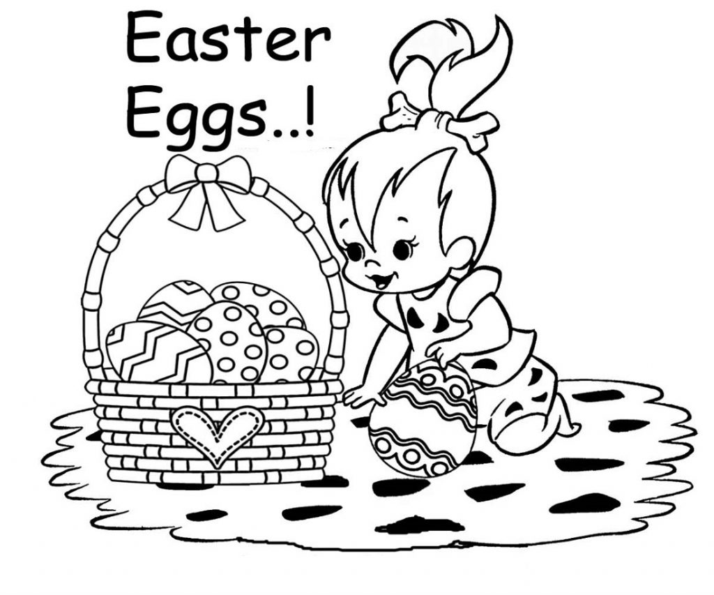Easter Egg Pictures To Colour Pages