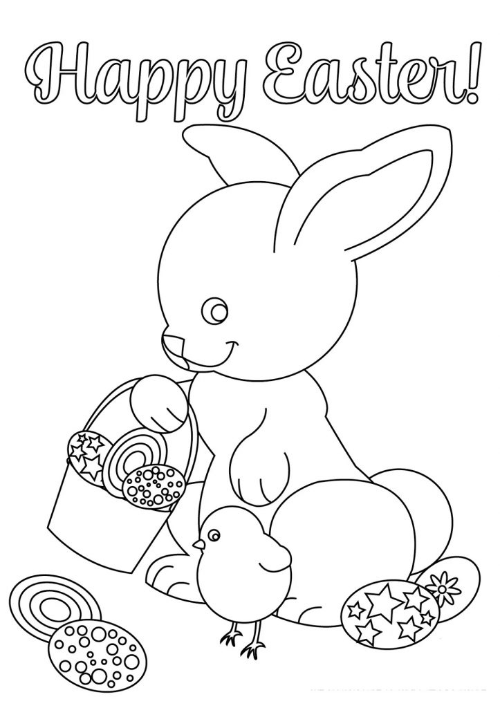 Easter Egg Pictures To Colour for Kids