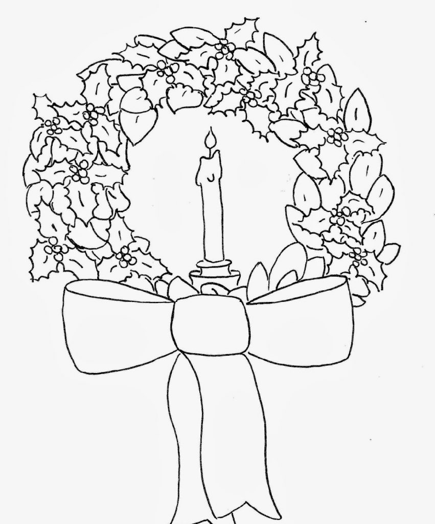Easy Christmas Coloring Pages Bows