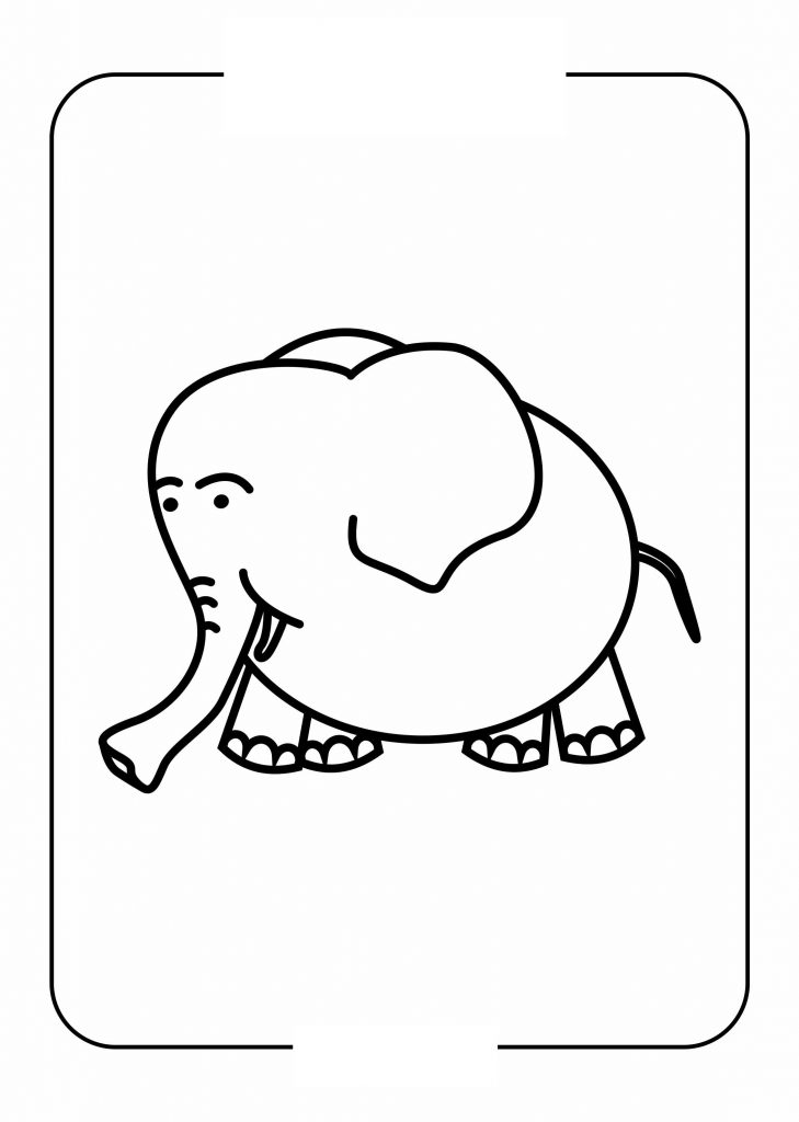 Easy Coloring Pages Animal