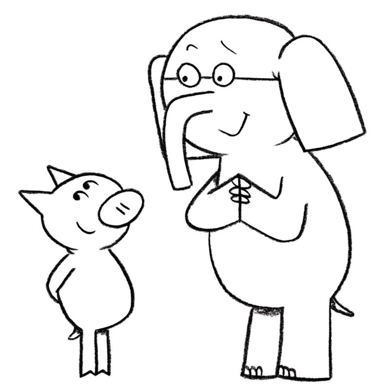 Elephant And Piggie Coloring Pages Character