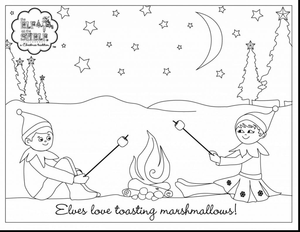 Elf On The Shelf Coloring Pages Christmas