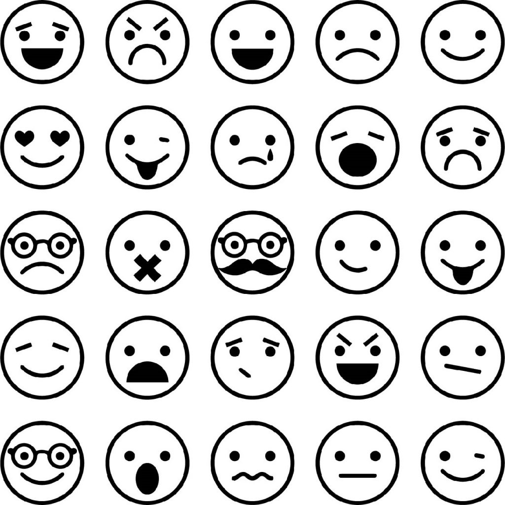 Emoji Coloring Pages Faces