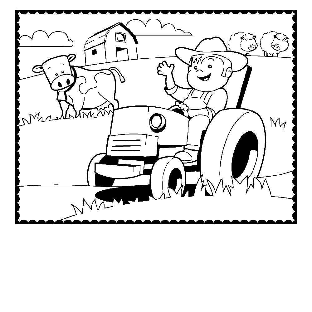 Farm Animal Coloring Pages And Farmer