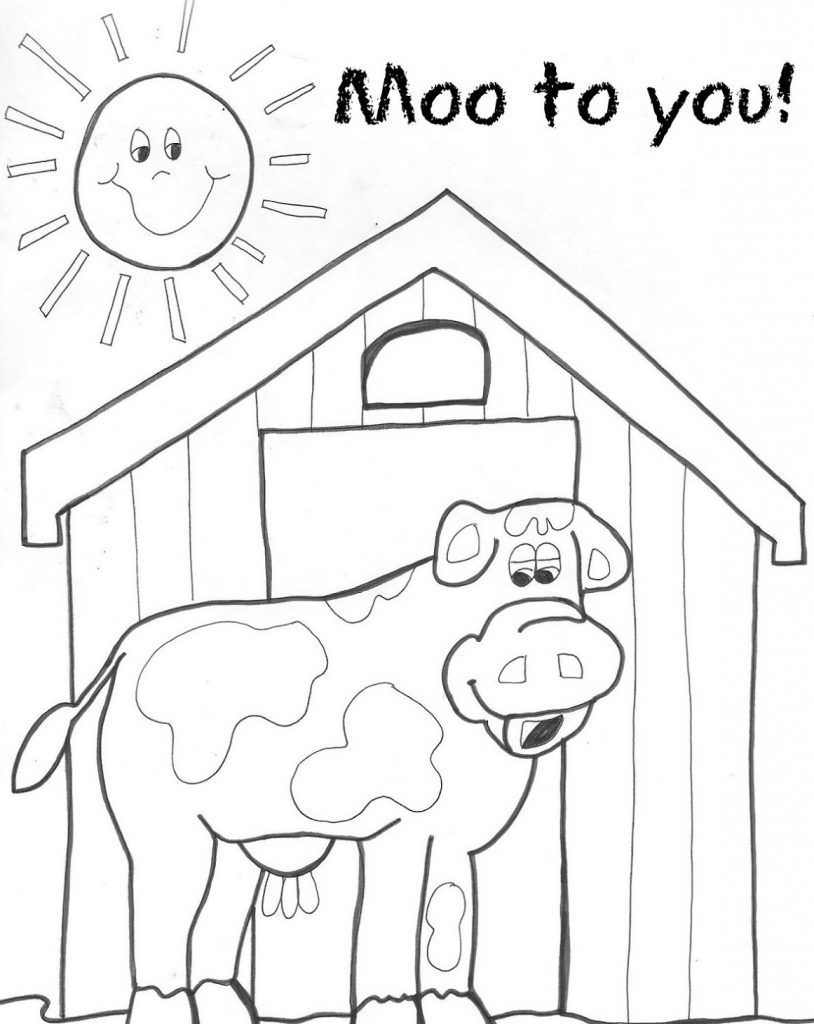 Farm Animal Coloring Pages Cow