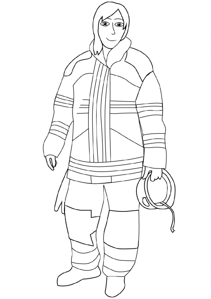 Female Fireman Coloring Pages