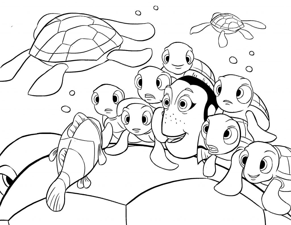 Finding Nemo Coloring Pages Animation