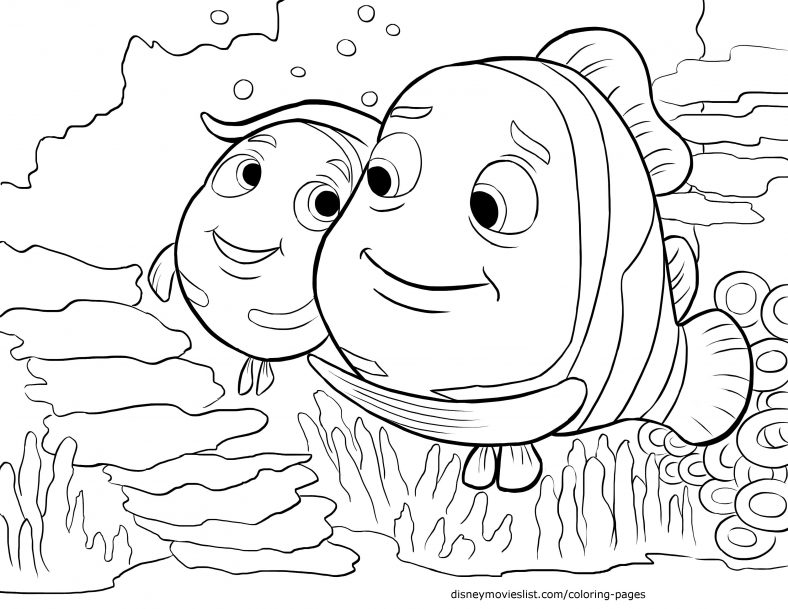 Finding Nemo Coloring Pages Cartoon