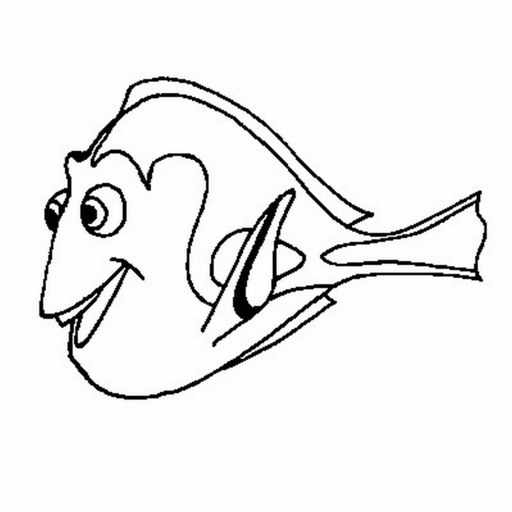 Finding Nemo Coloring Pages Dory
