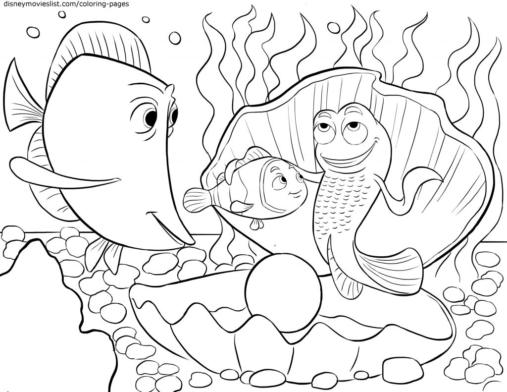 Finding Nemo Coloring Pages Scenes