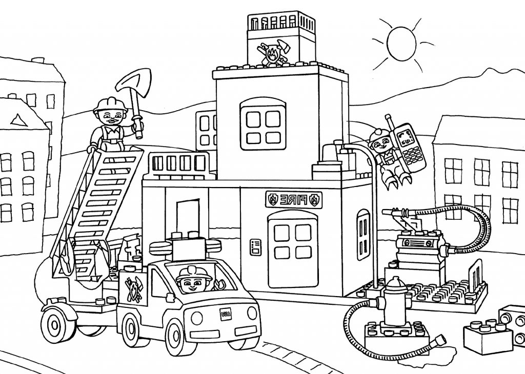 Fire Truck Coloring Pages For Children 101 Coloring