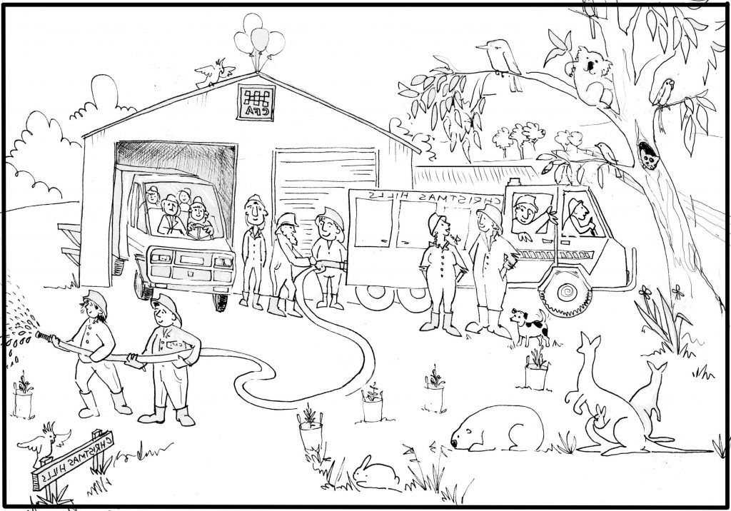 Fire Truck Coloring Page Fireman