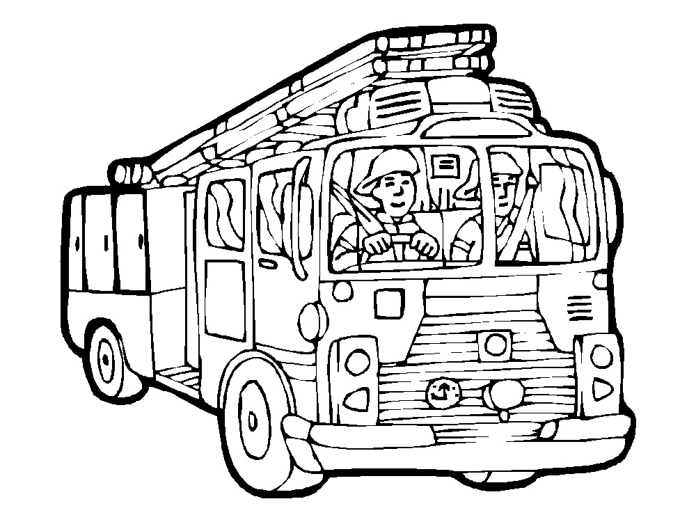 Fireman Coloring Pages Fire Truck