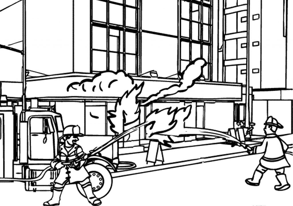 Fireman Coloring Pages Hero