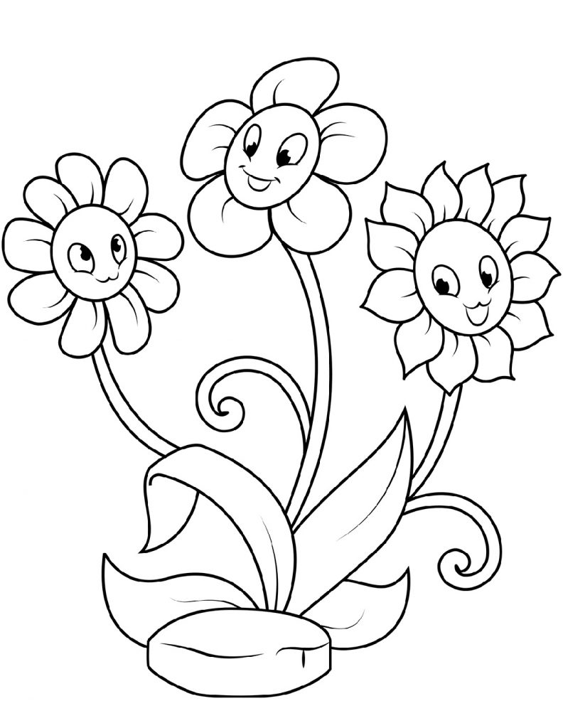 Flower Coloring Cute