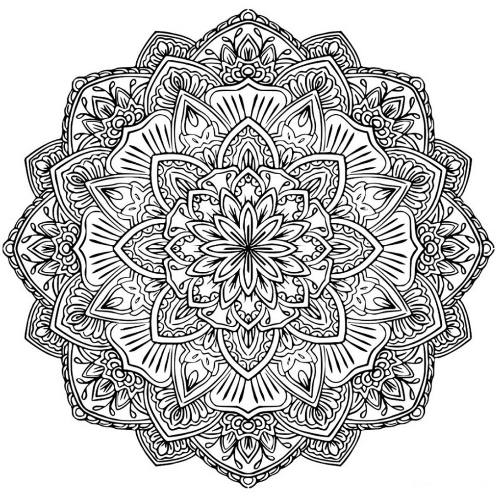 Flower Coloring Mandala