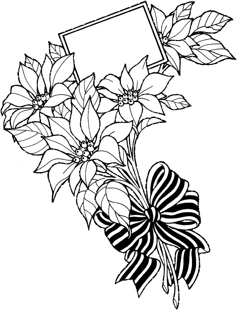 Flower Coloring Pages Buckets