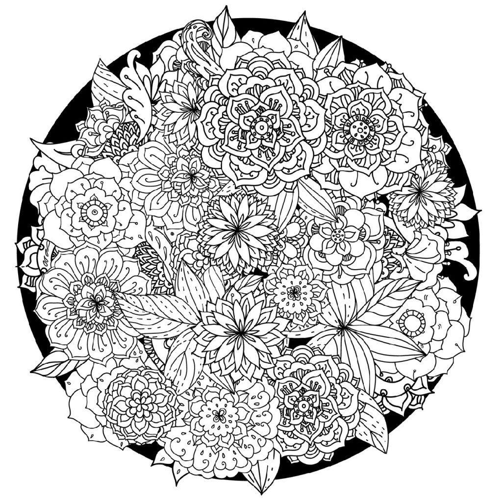 Mandala Inspired Flower Coloring Pages 101 Coloring