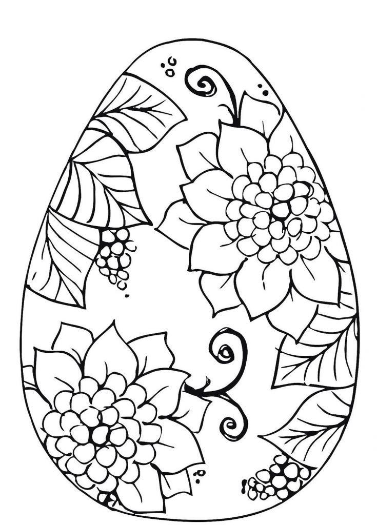 Flower Patterns Easter Egg Pictures To Colour