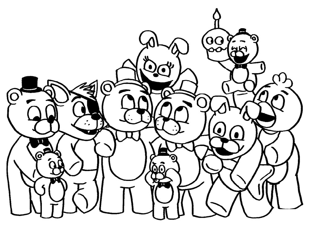Fnaf Coloring Pages Toy