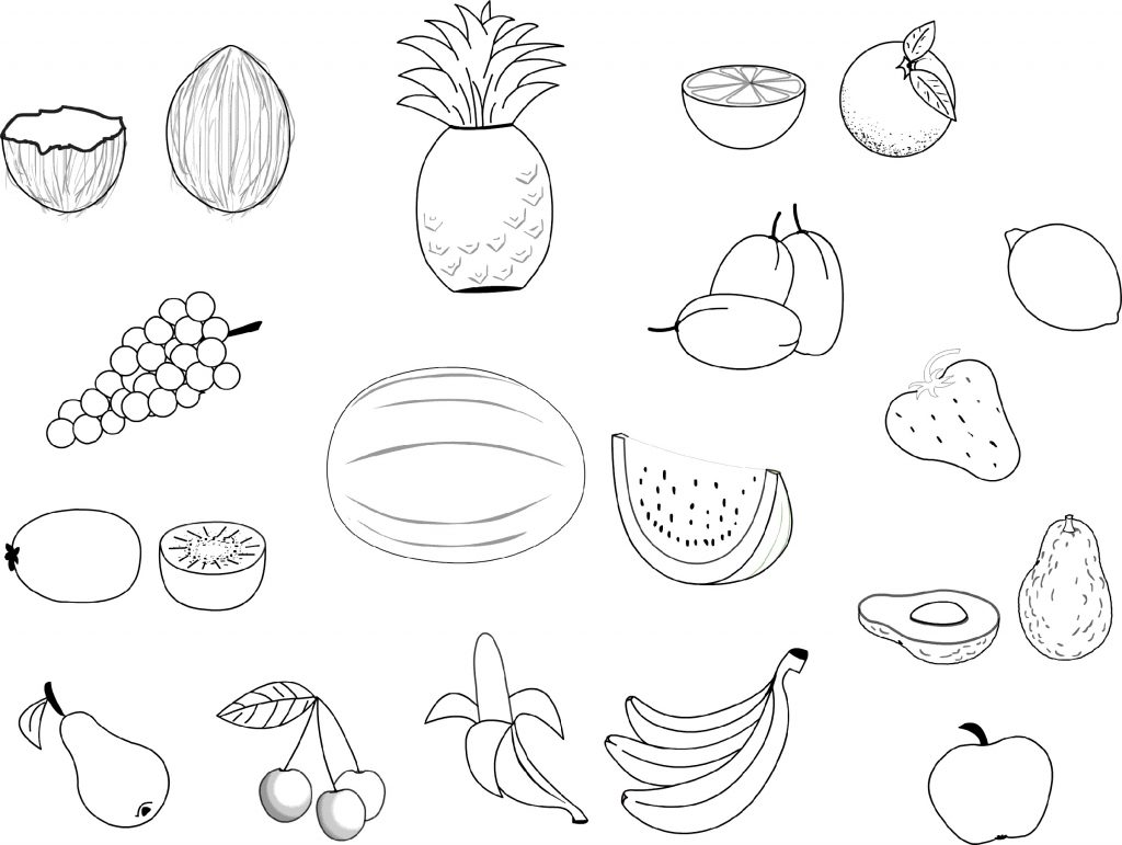 Food Coloring Pages Fruit