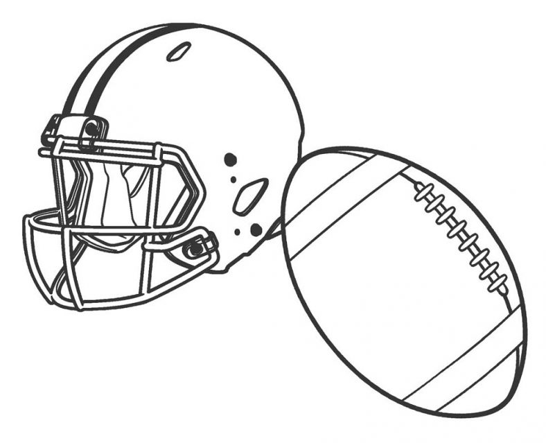 Football Coloring Pages Helmet