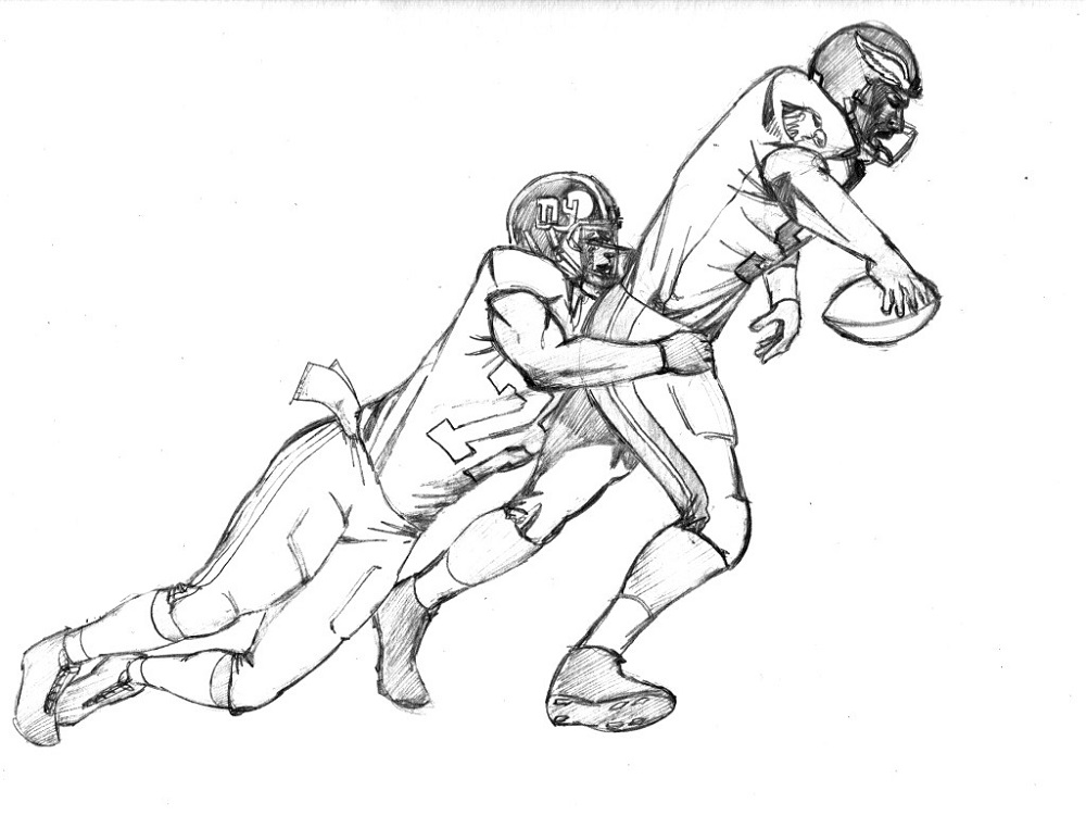 Football Coloring Pages Player