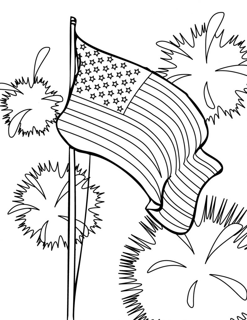 Fourth Of July Coloring Pages Fireworks