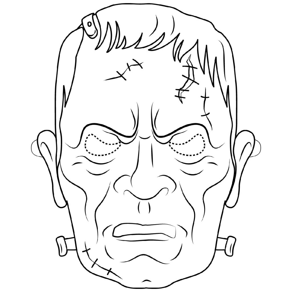 Frankenstein Coloring Pages Scary