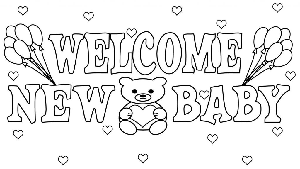 Free Baby Shower Coloring Pages