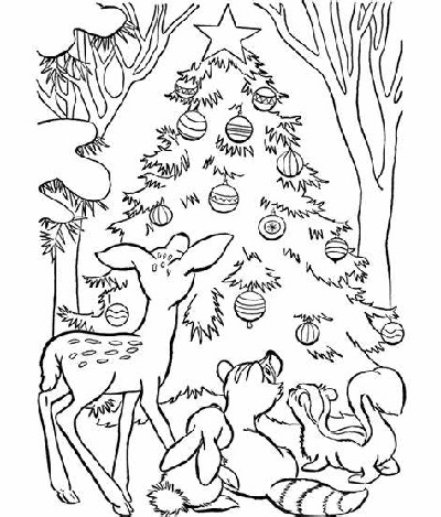 Free Christmas Coloring Pages Christmas Tree