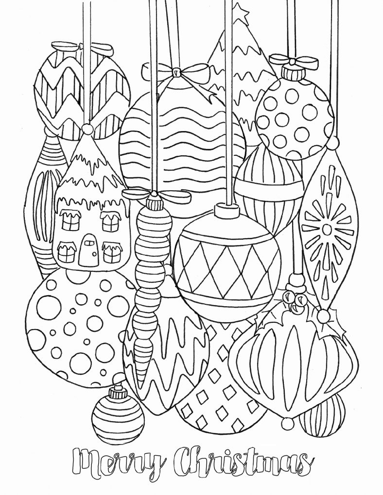 Free Christmas Coloring Pages For Adults Decorations