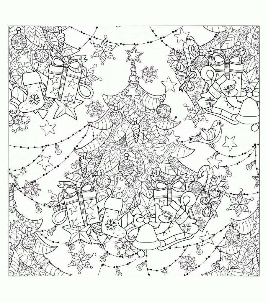 Free Christmas Coloring Pages For Adults Pictures