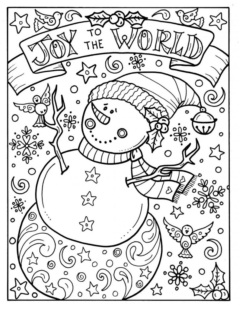 Free Christmas Coloring Sheets Joy