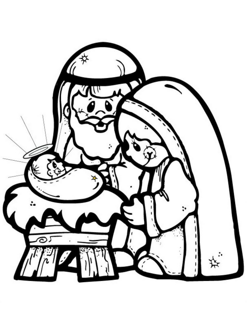 Free Christmas Coloring Sheets Nativity