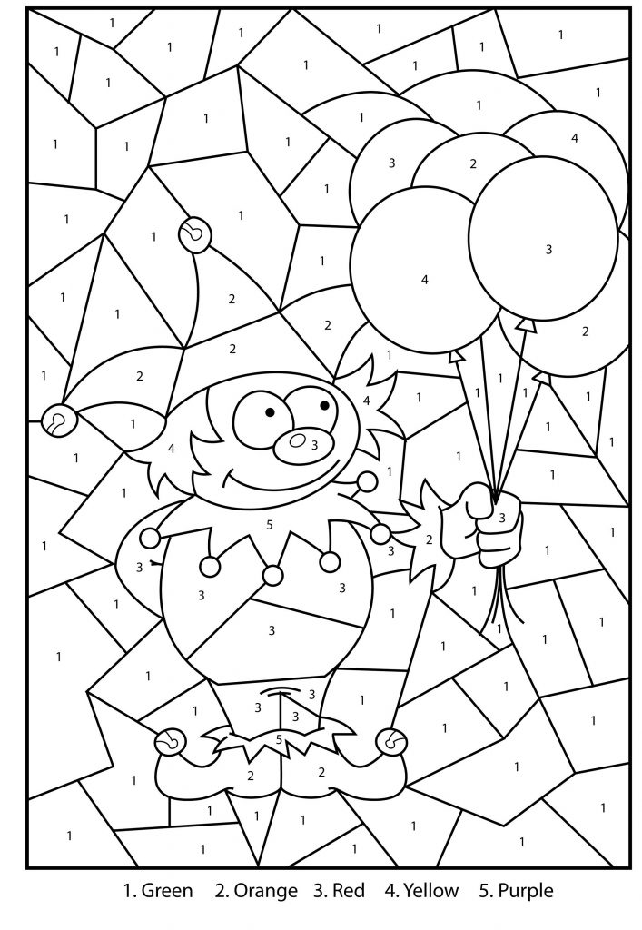 Free Color By Number Kids