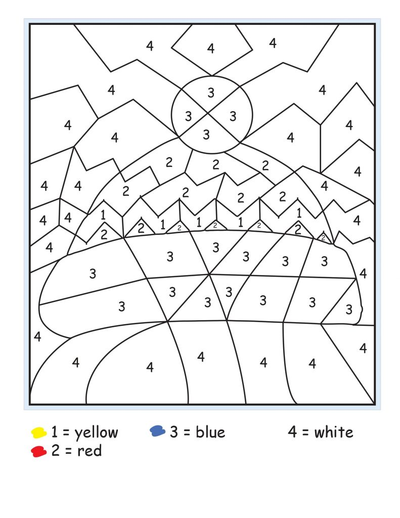 Free Color By Number Learning Colors