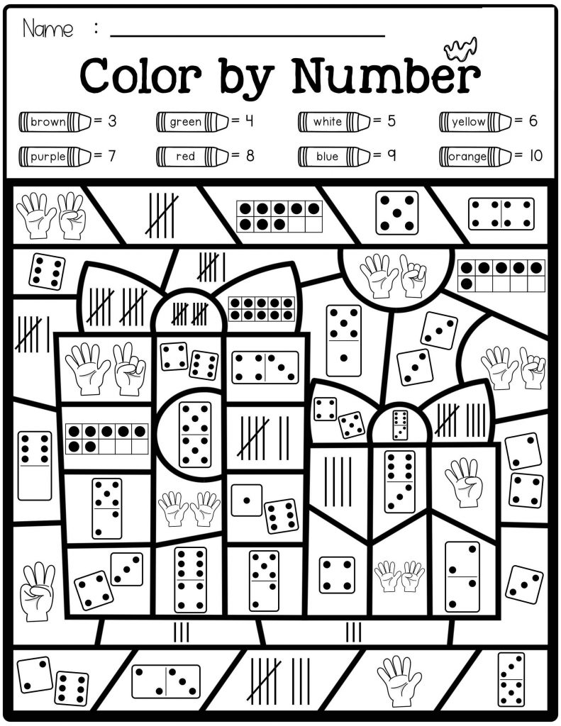 Free Color By Number Math