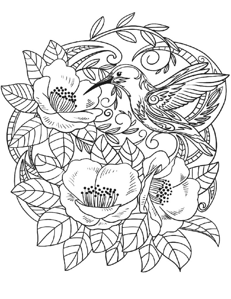 Free Coloring Pages Flower