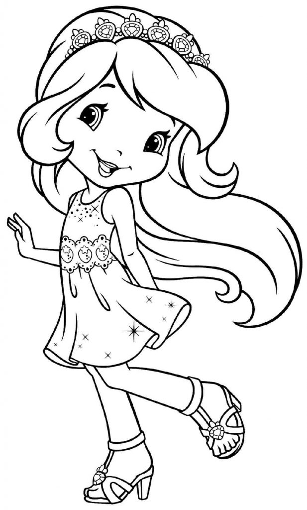Free Coloring Pages For Girls Cartoon
