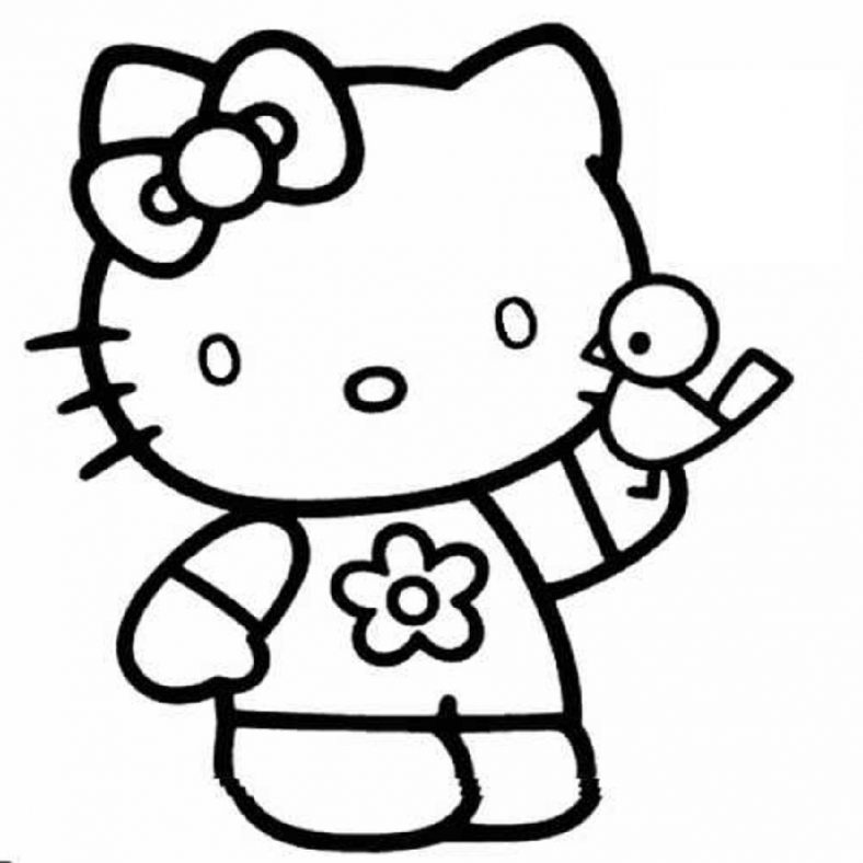 Free Coloring Pages For Girls Hello Kitty