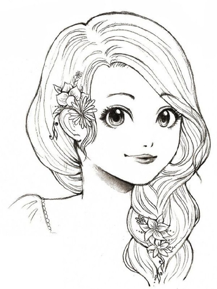 Free Coloring Pages For Girls Kawaii