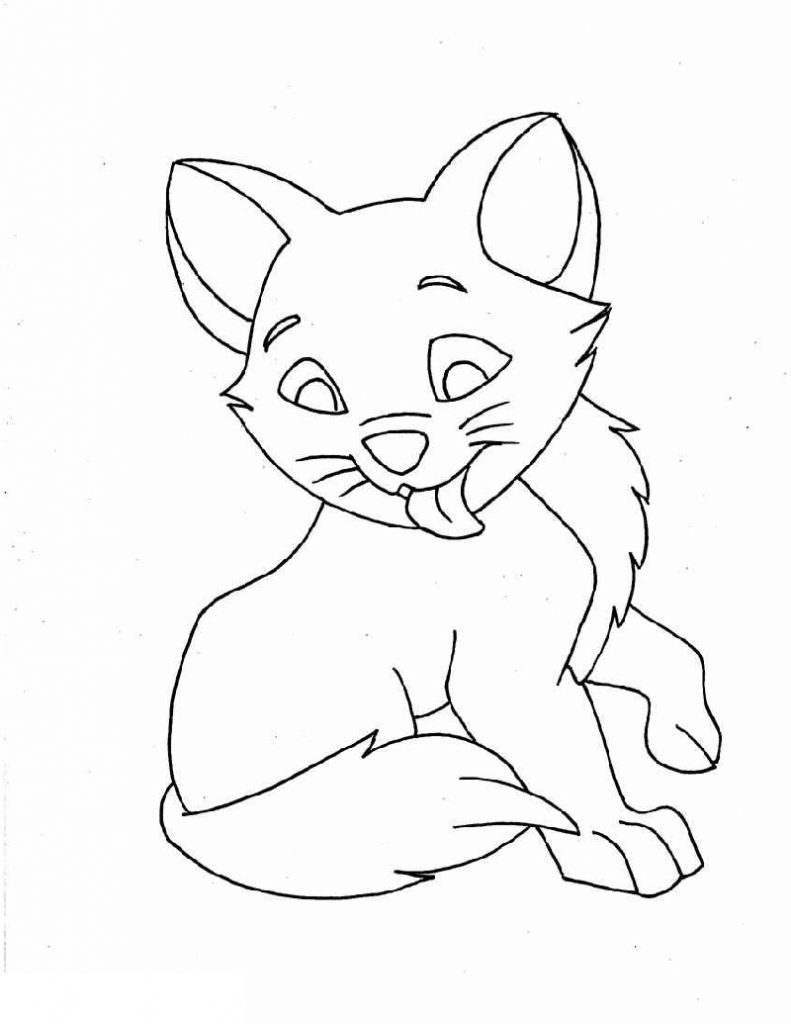 Free Coloring Pages For Girls Kitten