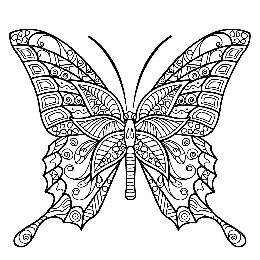 Free Mandala Coloring Pages Butterfly
