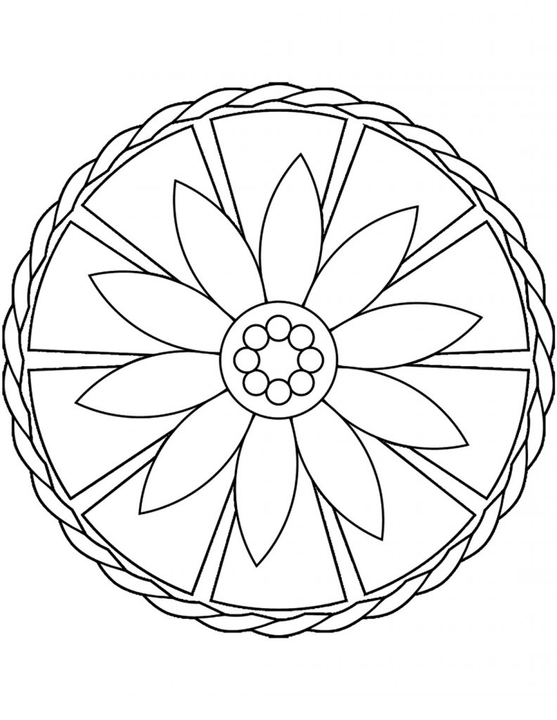 Free Mandala Coloring Pages Easy