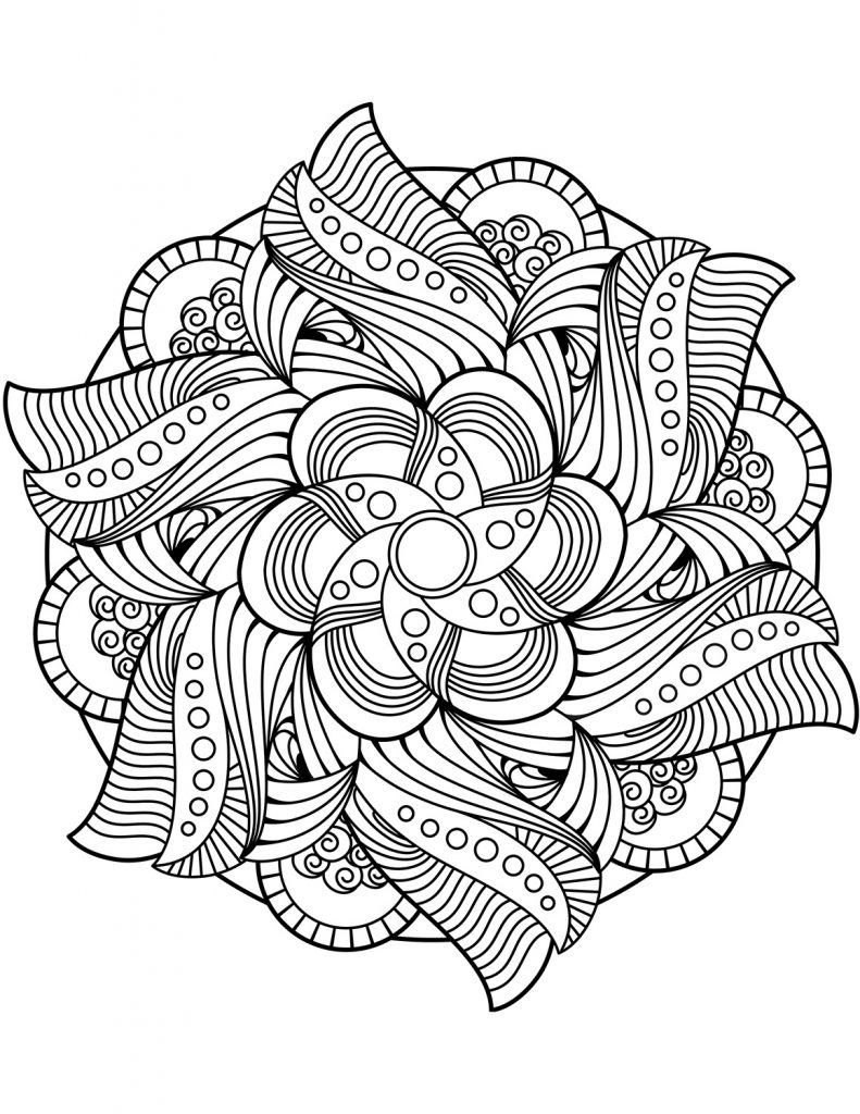 Free Mandala Coloring Pages Flower