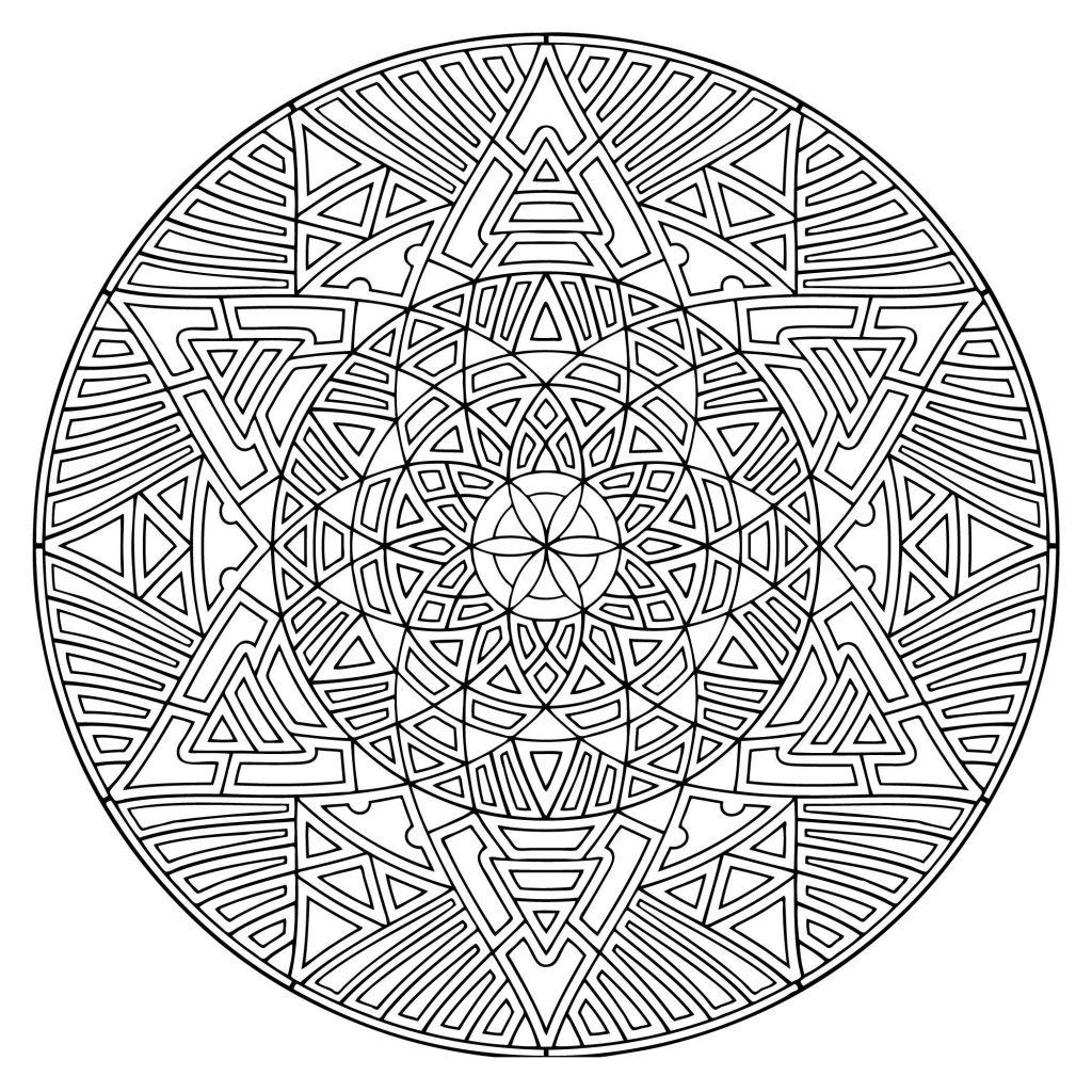 Free Mandala Coloring Pages Geometric