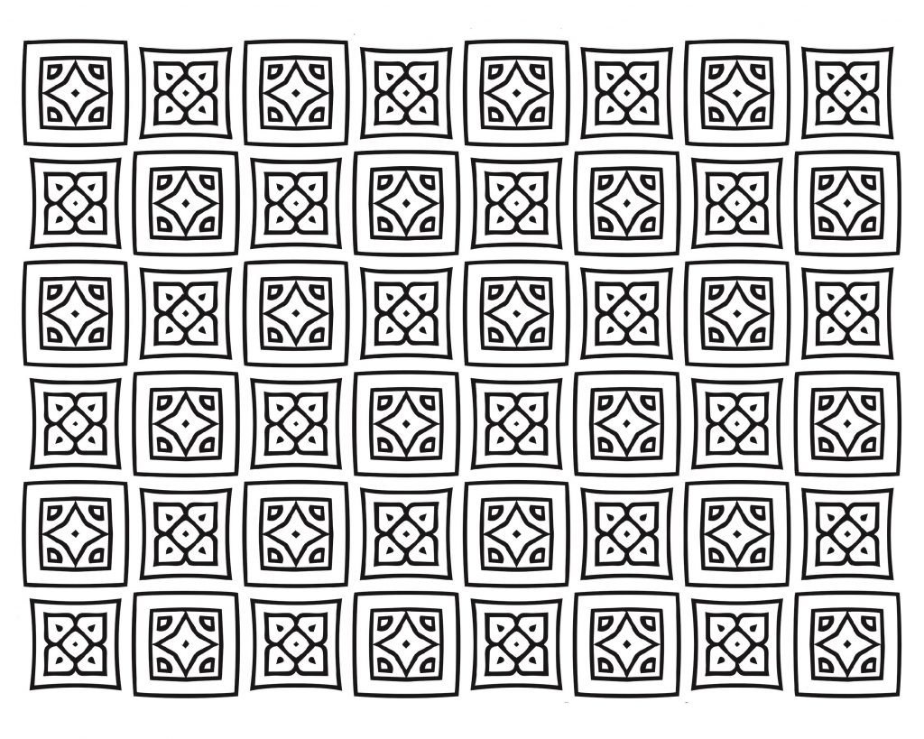 Free Online Coloring Pages For Adults Pattern