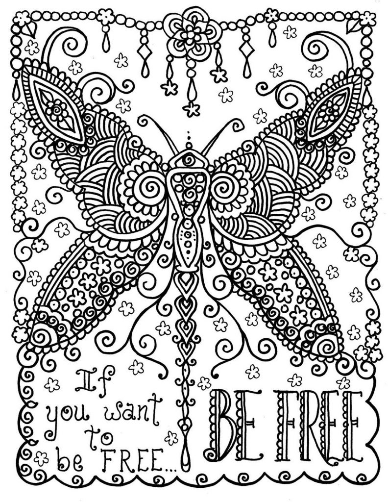 Free Online Coloring Pages For Adults Quotes